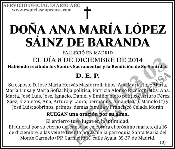 Ana María López Sáinz de Baranda